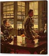 The Prodigal Son In Modern Life  The Departure Canvas Print