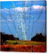 The Progression Of Progress - Electrified Canvas Print