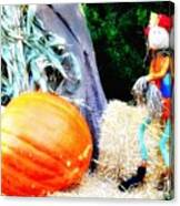 the Pumpkin and the Scarecrow Canvas Print