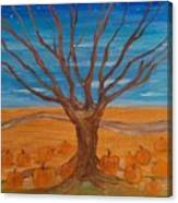 The Pumpkin Tree Canvas Print