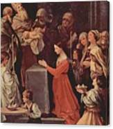 The Purification Of The Virgin 1640 Canvas Print