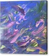 The Purple Dolphins Canvas Print