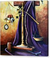 The Purple Robe Canvas Print