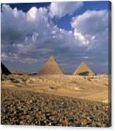 The Pyramids At Giza Canvas Print