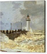 The Quay At Le Havre Canvas Print