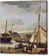 The Quay At Rouen Canvas Print