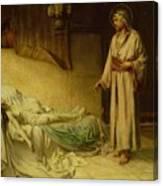 The Raising Of Jairus's Daughter Canvas Print