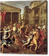 The Rape Of The Sabines Canvas Print