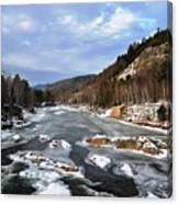The Rapids In Winter Canvas Print