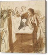 The Raven - Angel Footfalls Canvas Print
