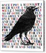 The Raven Poem Art Print Canvas Print