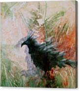 The Raven Sitting Lonely Canvas Print