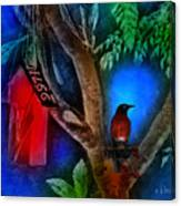 The Red Birdhouse Canvas Print