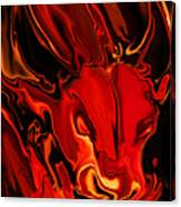 The Red Bull Canvas Print