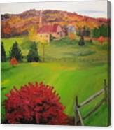 The Red Bush Canvas Print