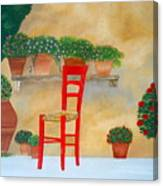 The Red Chair, Tuscany Canvas Print