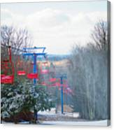 The Red Chairlift Canvas Print