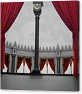 The Red Curtain Canvas Print