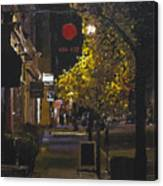 The Red Dot At Night Canvas Print