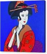 The Red Geisha Canvas Print