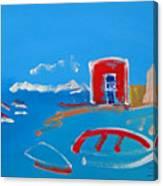The Red House  La Casa Roja Canvas Print