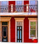 The Red House-nola-faubourg Marigny Canvas Print