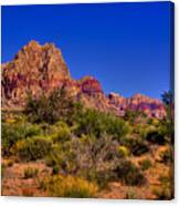 The Red Rock Canyon At Bonnie Springs Ranch Canvas Print