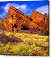 The Red Rock Park Vi Canvas Print