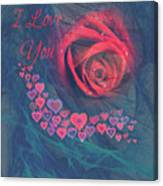 The Red Rose Of Love Canvas Print