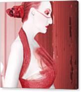 The Red Stripe - Self Portrait Canvas Print