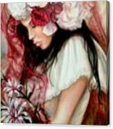 The Red Veil Canvas Print