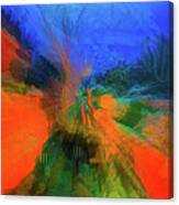 The Reef In Watercolor Abstract Canvas Print