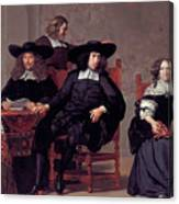 The Regents Of The Old Men And Women Hospital In Amsterdam Canvas Print