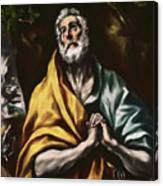 The Repentant Saint Peter Canvas Print