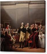 The Resignation Of General George Washington Canvas Print