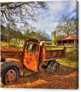 The Resting Place 2 Farm Life 1947 Dodge Dump Truck Art Canvas Print