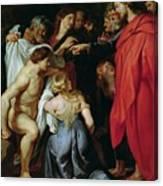 The Resurrection Of Lazarus Canvas Print