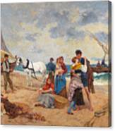 The Return Of Fishermen Canvas Print