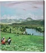 The Rhine Near Sakingen Canvas Print
