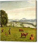 The Rhine Valley Near Sackingen Canvas Print
