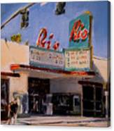 The Rio Theater Canvas Print