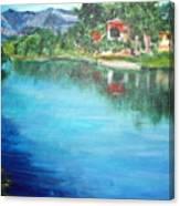 the river Adda Canvas Print