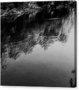 The River In Black And White Canvas Print