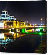 The River Liffey Reflections 3 Canvas Print