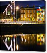 The River Liffey Reflections Canvas Print