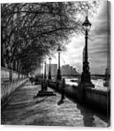 The River Thames Path Canvas Print