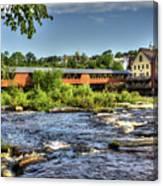 The River Walk Bridge Canvas Print
