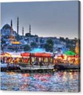 The Riverboats Of Istanbul Canvas Print