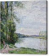 The Riverside Road From Veneux  Canvas Print