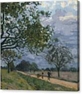The Road From Versailles To Louveciennes Canvas Print